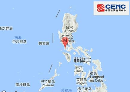 菲律宾发生6.3级地震 震源深度非常深 烈度不大