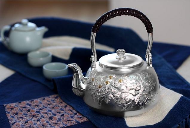 银壶_煮水的纯银银壶_手工银壶茶具价格-金投白银网