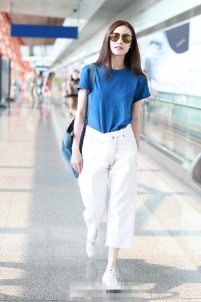 女星服装流行趋势示范 阔腿裤+球鞋时髦出街一点不难