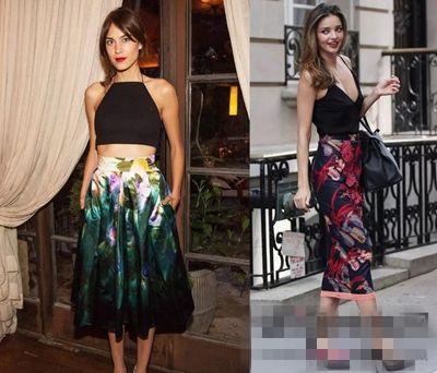花朵裙搭配技巧套路深 你知道几个服装搭配技巧?