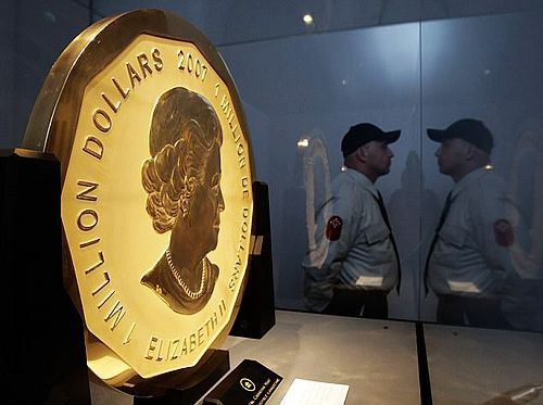 太可惜!世界最大金币被盗案破获 巨型金币已被熔为金条