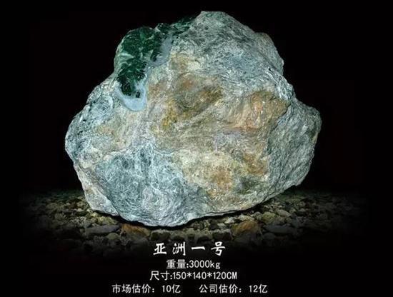 亚洲一号翡翠原石:来自缅甸后江场口的绝世珍宝