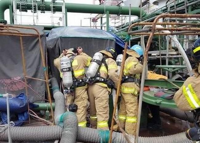 韩造船厂油轮爆炸 造成4名工人丧生