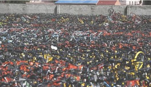 上海共享单车坟墓成山 上海暂停新增共享单车投放