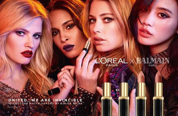 巴黎欧莱雅携手BALMAIN推出首个合作唇膏系列