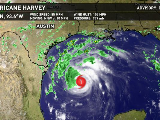 飓风哈维逼近墨西哥湾沿岸 油价料将继续承压