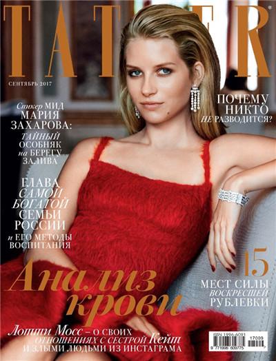 超模Lottie Moss登上《Tatler》杂志俄罗斯版9月号封面