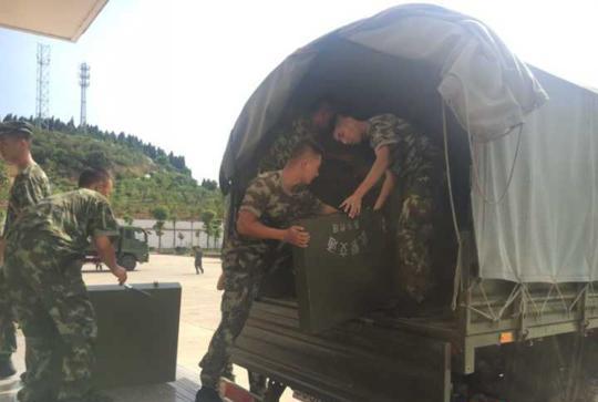 贵州滑坡驻川武警交通部队出动 目前救援力量已到现场开展救援
