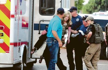 美国图书馆枪击案 现场2人当场死亡4人受伤