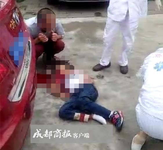 男子开车撞死9岁女儿 车体右侧从小女孩的身上碾过