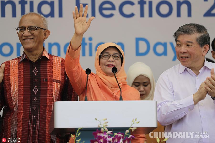 新加坡首位女总统 哈莉玛在毫无对手的情况下不战而胜