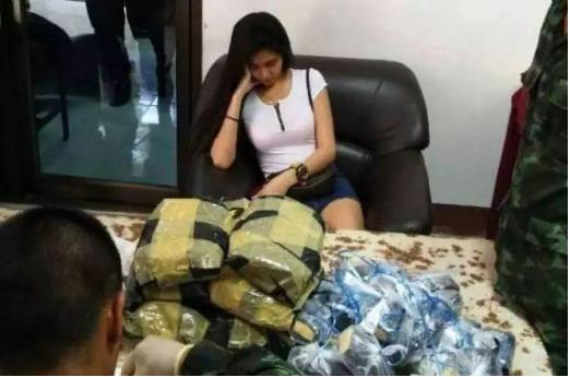 泰国美女运毒被查 企图以迷人相貌转移警察的搜查