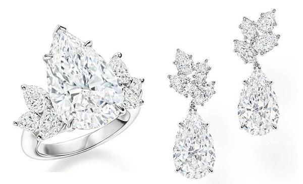 海瑞温斯顿新一季高级珠宝:Legacy 水滴形切割钻石独领风骚