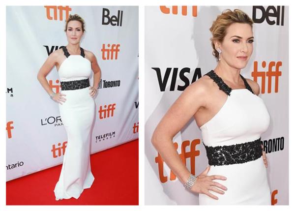 Kate Winslet佩戴戴比尔斯珠宝亮相多伦多国际电影节