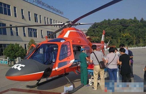 私人直升机转运烧伤病人 330公里路程仅耗时68分钟