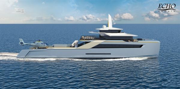 游艇制造商Echo推出全新50米支援游艇项目