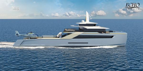 Echo制造商公布最新50米双体船支援游艇