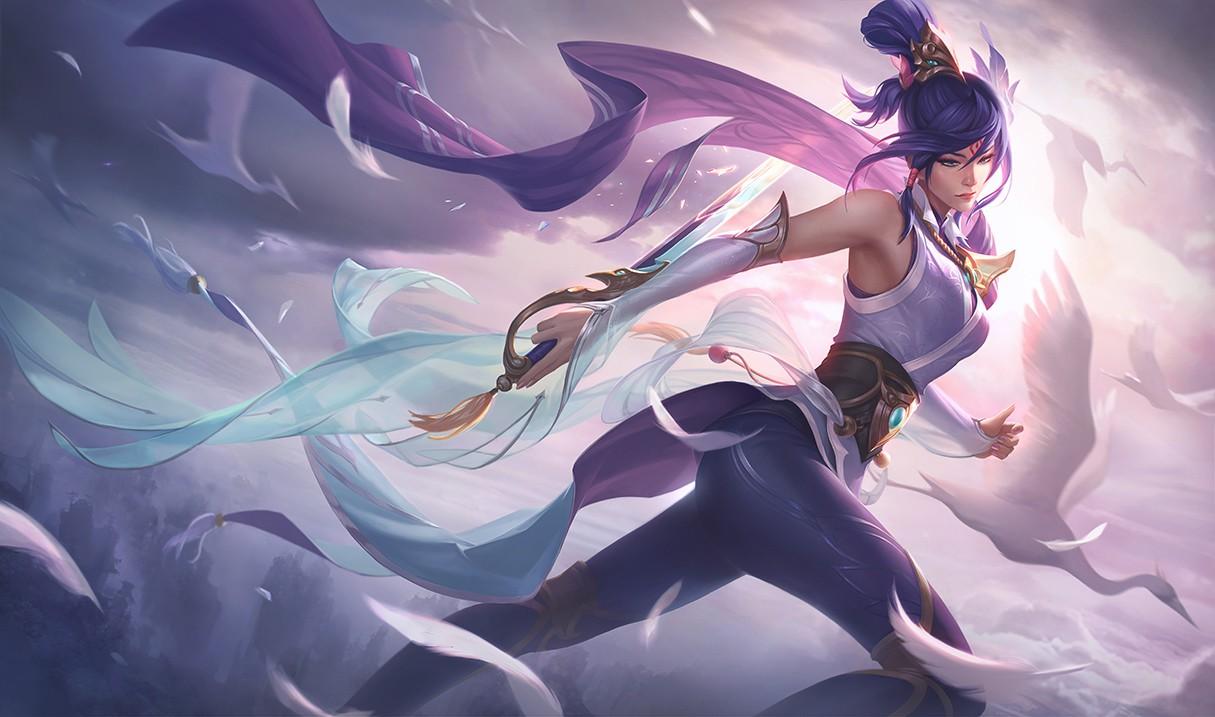 英雄联盟 仙侠皮肤原画公布 剑姬风女美如画