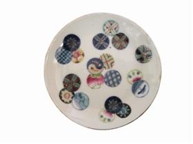 陶瓷鉴赏:清光绪年间皮球花小盘