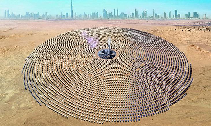 迪拜将建世界最大太阳能公园