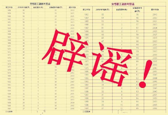 延迟退休最新消息 辟谣人社部推出延迟退休年龄时间表