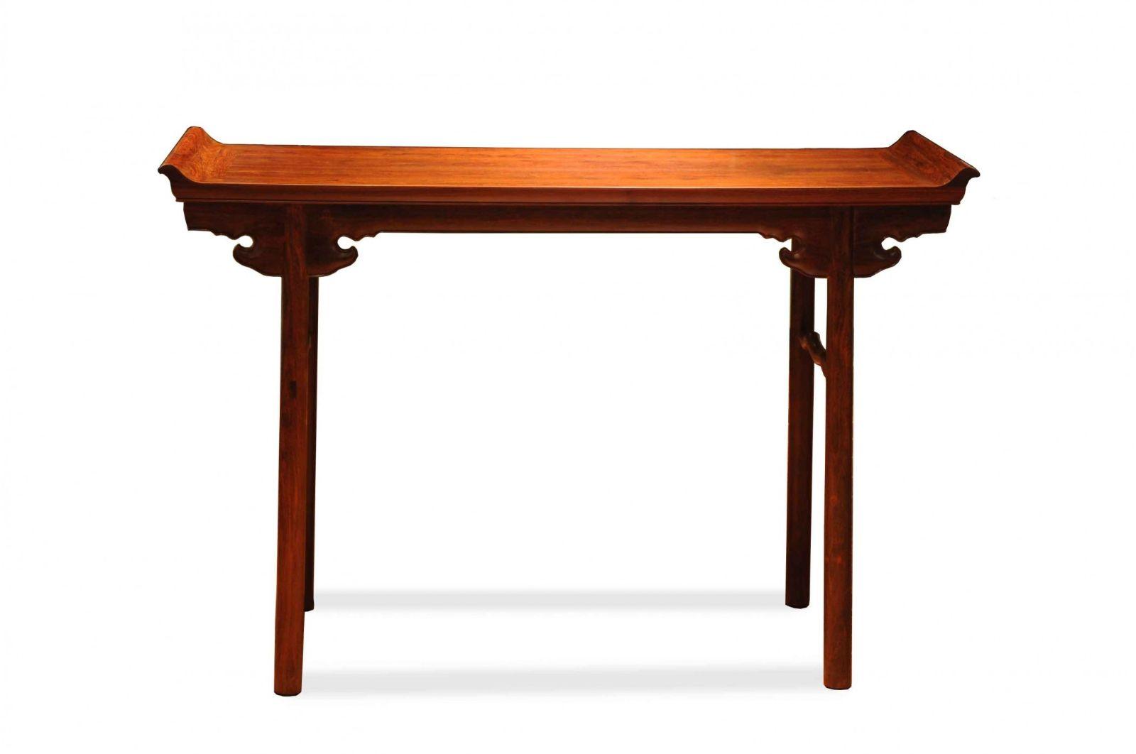 红木家具价格:小叶紫檀夹头榫翘头案价格多少?