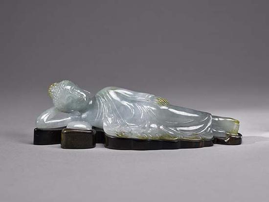 流落台湾地区半个多世纪的近代翡翠卧佛入藏上海博物馆