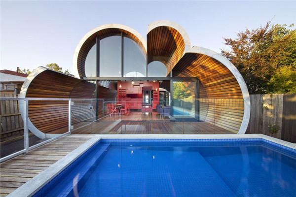 墨尔本豪宅:云朵造型彰显几何趣味魅力