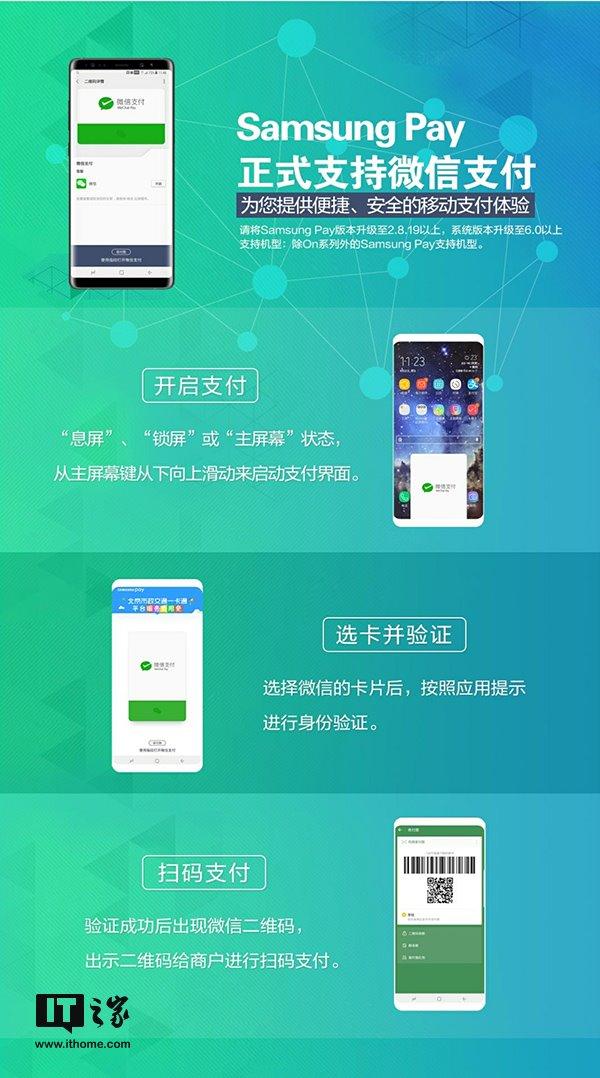 三星Samsung Pay正式支持微信支付