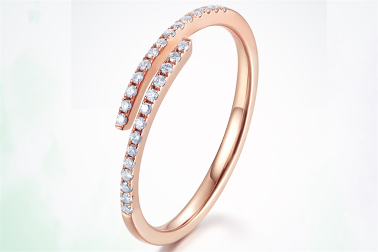 周大生珠宝逆青春-重逢18K金钻石戒指_珠宝图片