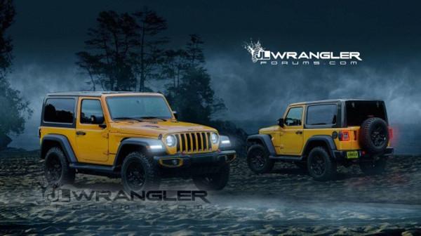 Jeep名车品牌全新牧马人双门硬顶版效果图曝光