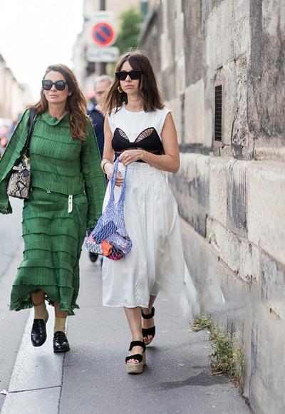 """时尚达人服装流行趋势示范 """"水果网兜""""包上线了"""