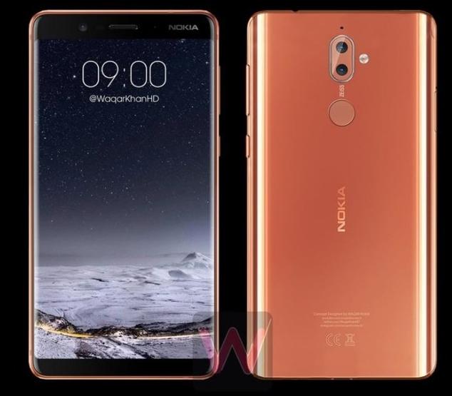 诺基亚9全面屏手机曝光 正面类似三星