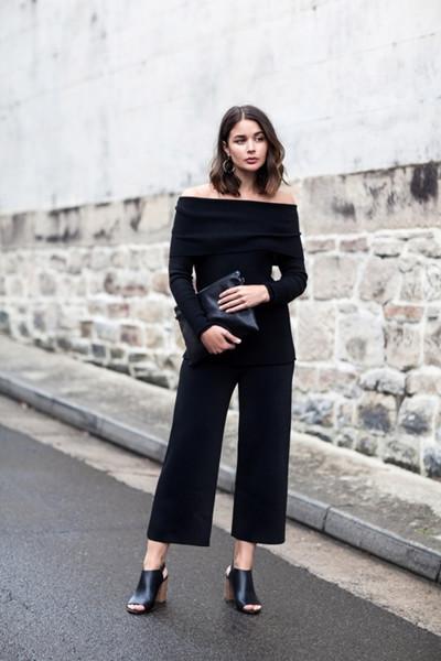 达人服装流行趋势示范 针织衫+阔腿裤才是最强CP