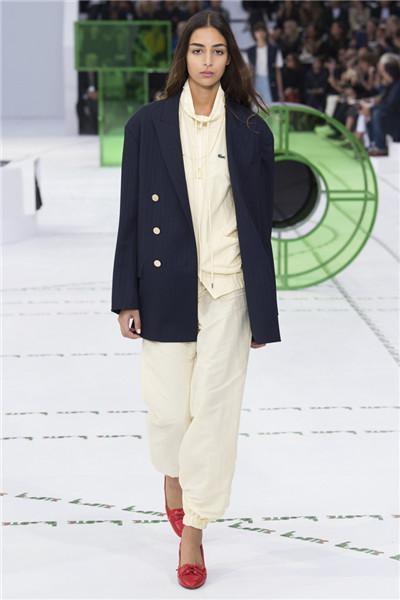 Lacoste(法国鳄鱼)于巴黎发布2018春夏系列时装秀