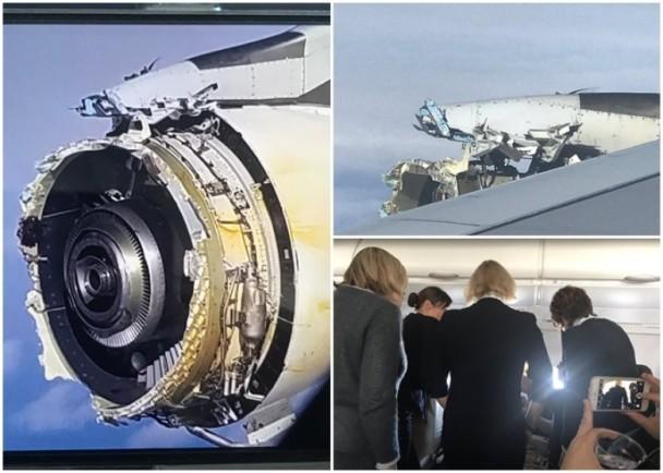 客机引擎空中解体 因发动机故障实施紧急迫降