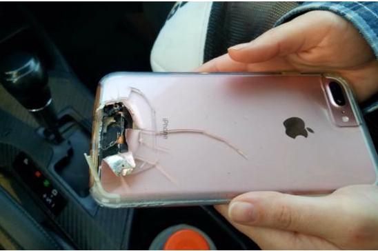 iPhone挡住子弹 因iPhone手机意外捡回一命