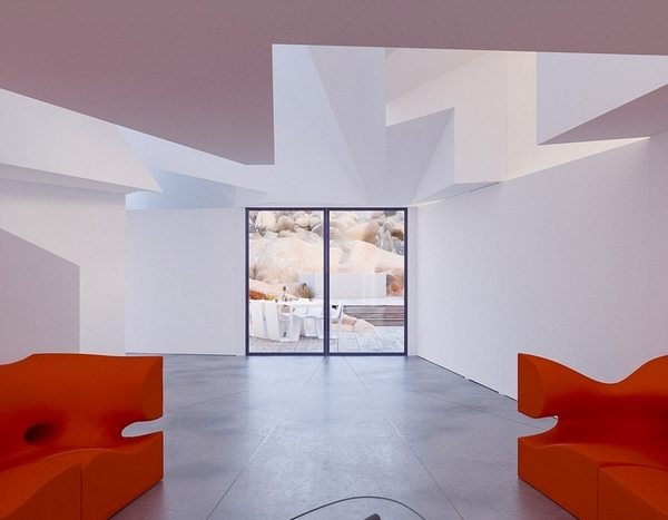 因此,惠特克在原作品的基础上为客户创作出了现在的建筑设计。