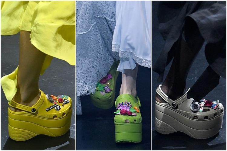 """巴黎世家和Crocs合作款洞洞鞋 真的有了新""""高度"""""""