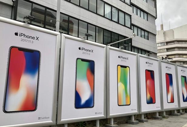 iPhone X广告牌已陆续现身各大城市