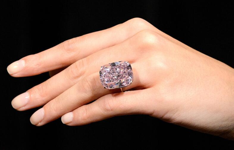 世界最大浓彩粉钻估价近两亿