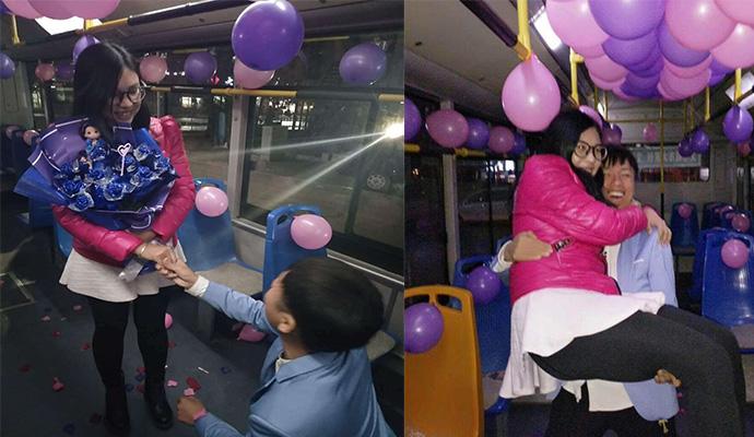 吉林公交司机求婚美女乘客 因一次偶遇相识相知相恋再到结婚