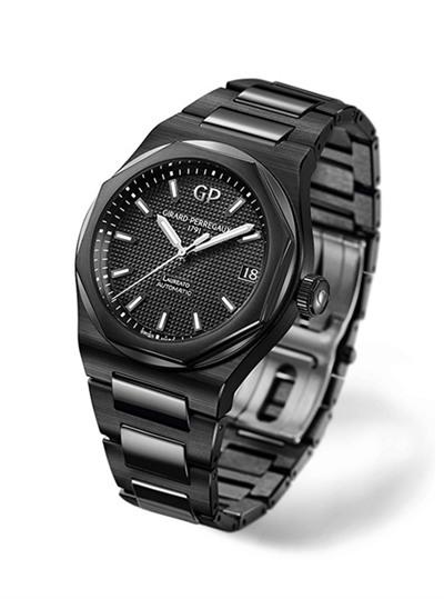 芝柏表Laureato桂冠系列推出全新黑色陶瓷腕表