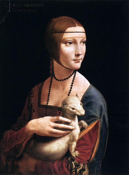 达芬奇油画《抱貂的女子》传达了什么