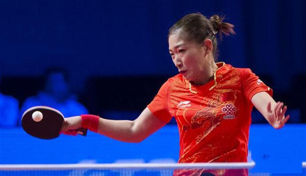 刘诗雯晋级四强 以4比0完胜罗马尼亚选手萨马拉