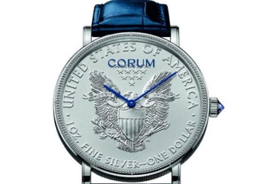 """诠释""""美国精神"""" CORUM昆仑推出三款全新传统硬币腕表"""
