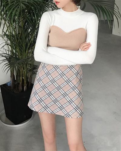 秋装穿衣搭配造型示范 简单上衣+下装也能美翻天