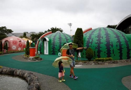 日本馒头度假屋 抗震性能非常强深受亚洲游客欢迎