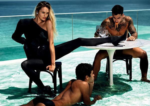 超模Candice Swanepoel为《VOGUE》杂志拍摄11月刊大片