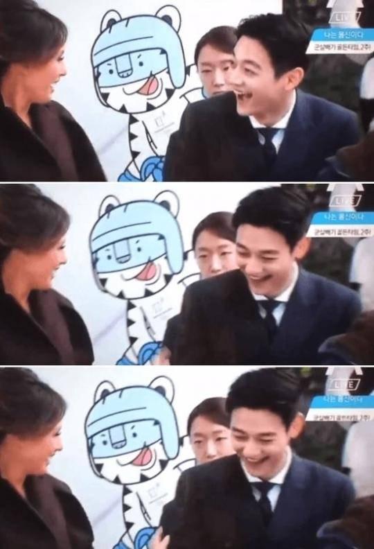 特朗普夫人与韩男星同台 两人相视一笑场面非常和谐